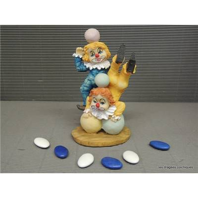 Figurine clown double balle 15 cm seul